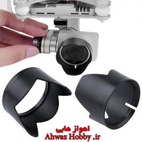 هود سایه بان آفتاب گیر لنز دوربین فانتوم 3 فانتوم 4 دارای لاستیک ضد خش داخلی