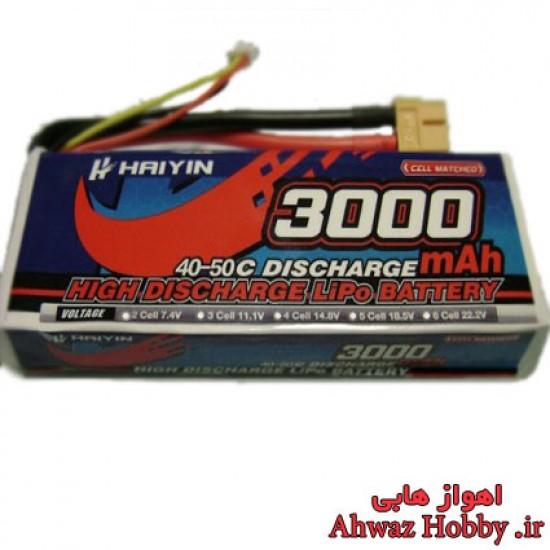 باتري 14.8 ولت 3000 ميلي آمپر 4 سل 40C مخصوص کواد کوپتر ساخت Herewin Haiyin