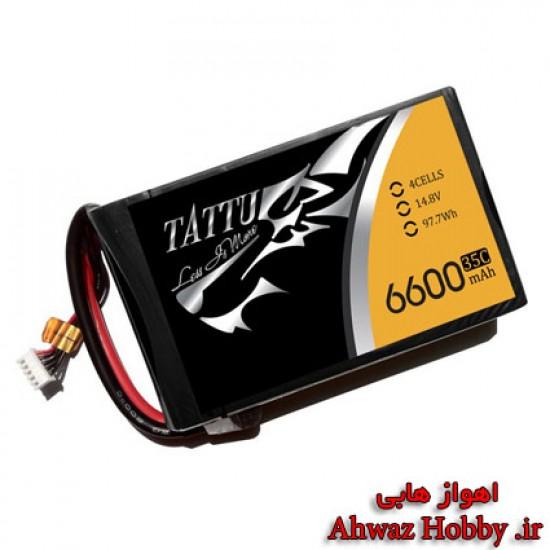 باتری Tattu لیتیوم پلیمر 4 سل - 6600mah و دیس شارژ 35C