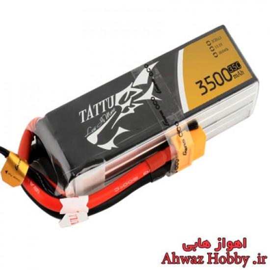 باتری لیتیوم پلیمر 3 سل 3500mAh با تخلیه دیس شارژ 35C ساخت Tattu