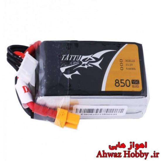 باتری تتو لیتیوم پلیمر 3 سل 11.1 ولت 850 میلی آمپر