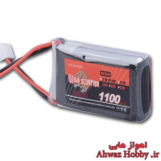 باتری 2 سل 7.4 ولت 1100 میلی آمپر وایلد اسکورپیون سری NANO