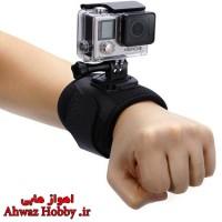 مچ بند و بازوبند نگه دارنده الاستیکی کشی 360 درجه دوربین مخصوص بستن انواع دوربین گوپرو و اسپرت کمرا روی مچ و بازو