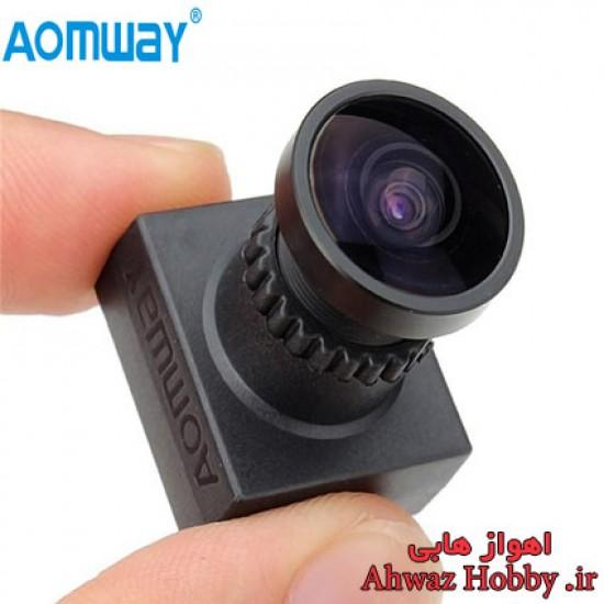 دوربین کواد کوپتر FPV مینی مدل Aomway 700Tvl WDR دارای مانت نگه دارنده و کیفیت تصویر HD لنز 2.1mm زاویه دید واید 170 درجه ساخت Aomway