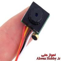 دوربین کواد کوپتر FPV میکرو 2 مگاپیکسل مدل 600TVL Mini CCTV Pinhole لنز 3.7mm زاویه دید نرمال 90 درجه همراه میکروفون ساخت HobbyKing
