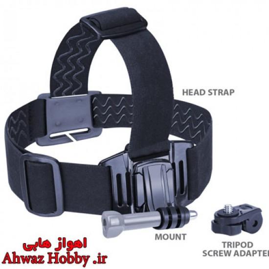 هدبند دوربین گوپرو نگه دارنده الاستیکی کشی دوربین مخصوص بستن دوربین گوپرو و اسپرت کمرا روی سر