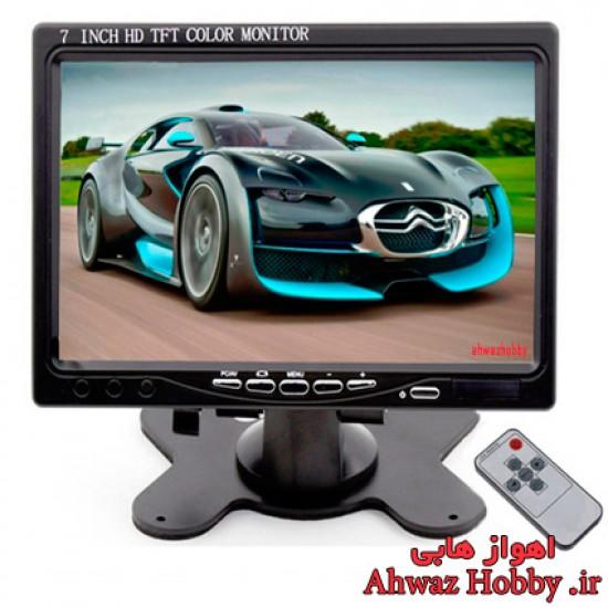 مانیتور 7 اینچ فول اچ دی TFT HD LED با پایه رومیزی و ریموت کنترل دارای ورودی تصویر AV و VGA و HDMI ساخت Padarsey
