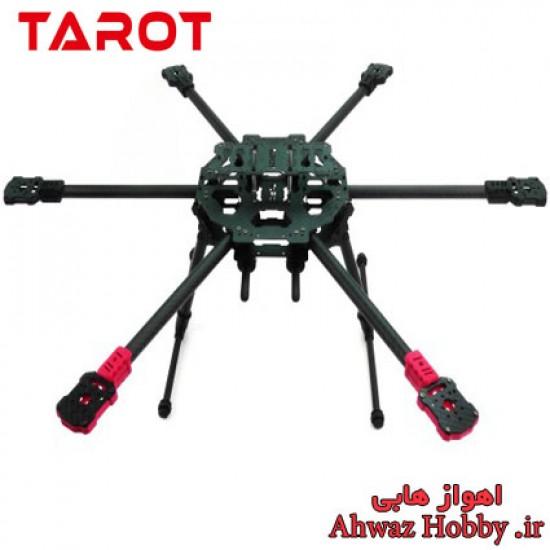 فریم هگزا فول کربن 680 تاروت TL68C01 آیرون من با بازو و پایه جمع شونده ساخت شرکت Tarot