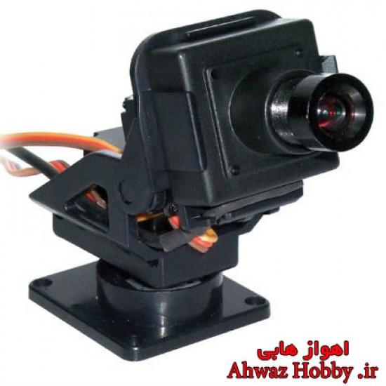 پایه براکت مانت مینی دوربین FPV سروو خور دو محوره (بدون دوربین و سروو)