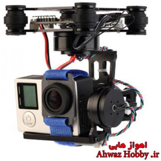 گیمبال سه محوره Storm32 BGC 3D اپن سورس به همراه بست نگه دارنده دوربین ویژه گوپرو و شیائومی و اسپرت کمرا ساخت OCDAY