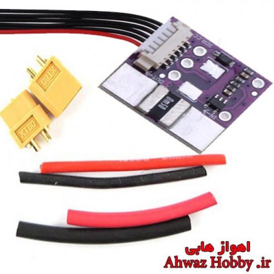 ماژول  POWER MODULE Current Voltage پاور ماژول Pixhawk و APM بدون BEC نشانگر جریان مصرفی آردوپایلوت ویژه APM و Pixhawk و MultiWii دارای کانکتور XT60 ساخت 3DR