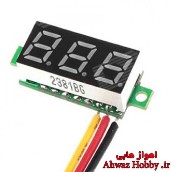 ماژول ولت متر دیجیتال 0 تا 100 ولت DC دارای نمایشگر LED