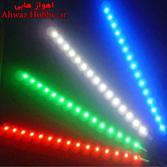 چراغ LED نورانی جهت نما 3 چراغ 5 سانت ولتاژ 12 ولت با چسب 3M در 5 رنگ مختلف
