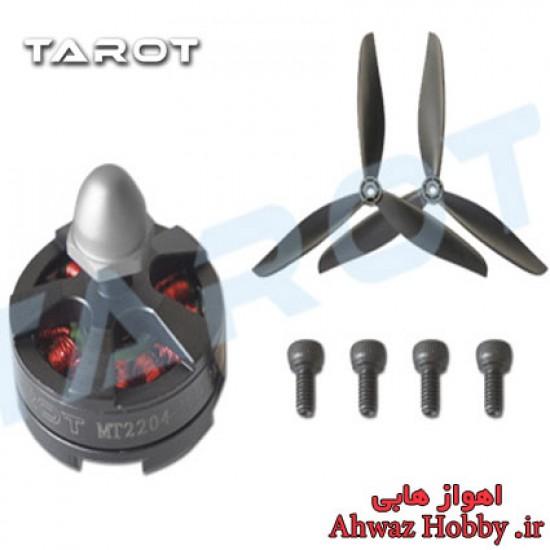 موتور براشلس TAROT MT2204 II دارای 2300KV به همراه ملخ 3 پر مخصوص کوادکوپتر FPV Racing Drone