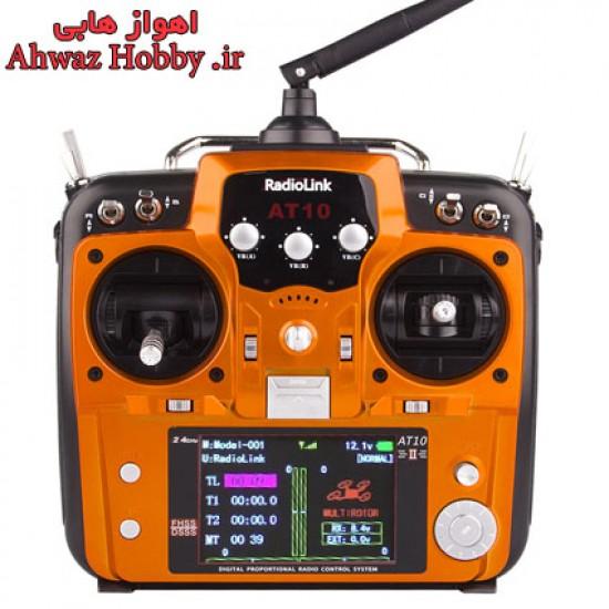 رادیو کنترل 12 کانال رادیولینک AT10II ورژن 2 همراه رسیور دارای S.BUS ساخت شرکت RadioLink