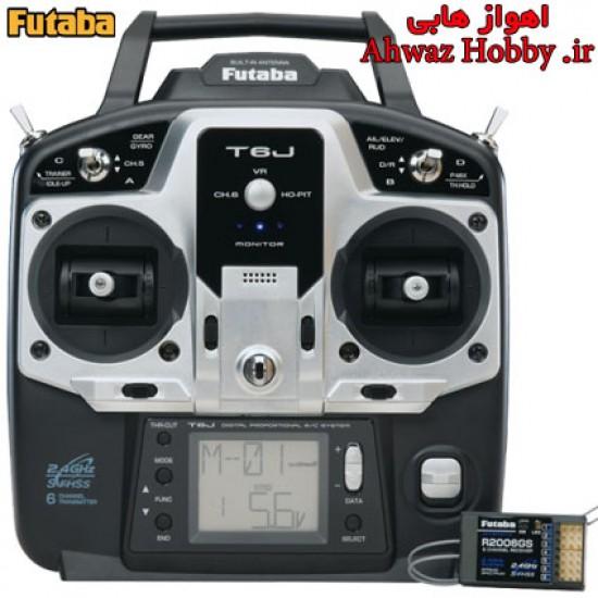رادیو کنترل 6 کانال فوتابا T6J همراه رسیور و سوئیچ ساخت شرکت Futaba