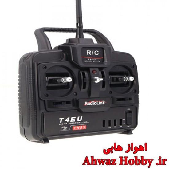 رادیو کنترل 4 کانال - T4EU - همراه رسیور 7 کانال- شرکت RadioLink