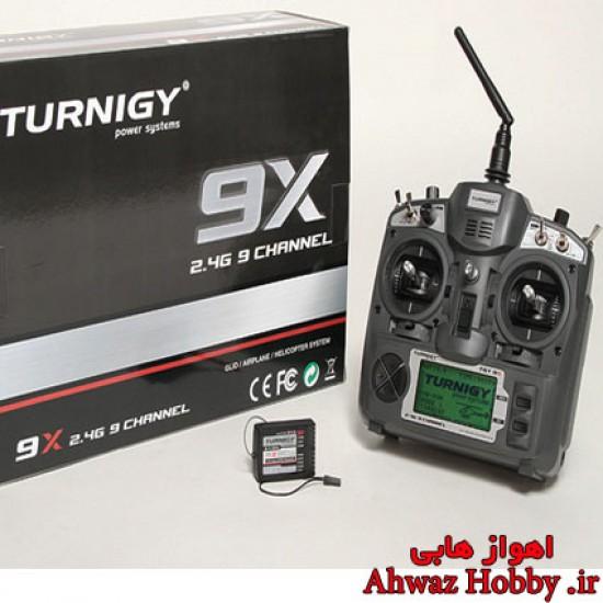 رادیو کنترل 9 کانال ماژولار TGY 9X همراه رسیور و ماژول -MODE 1 - شرکت تورنیجی TURNIGY
