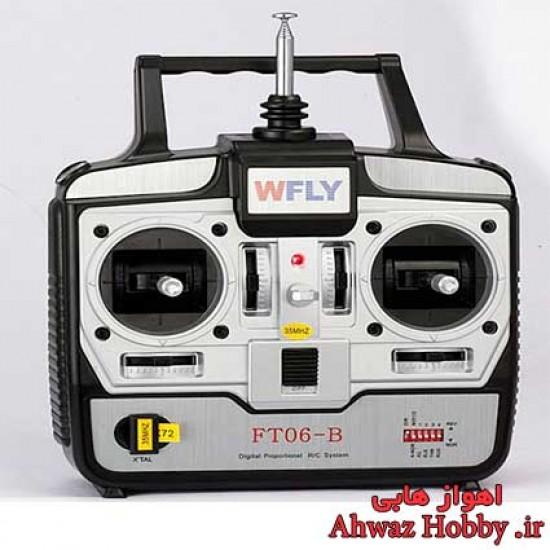 رادیو کنترل 4 کانال فرکانسی مدل WFLY FT06-B ساخت WFLY