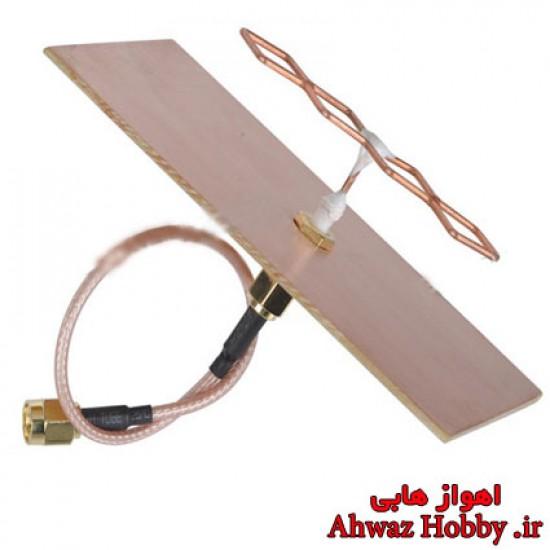 آنتن فلت بیکواد مارپیچی گین بالا فرکانس 5.8G مخصوص گیرنده ساخت HobbyKing با قدرت 23dBi
