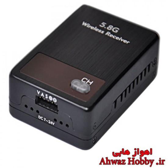 گیرنده بیسیم تصویر با بوستر تقویت داخلی فرکانس 5.8 گیگ 32 کانال مدل RC905 با کنترل توسط رادیو ساخت BOSCAM