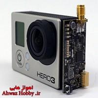 فرستنده دیجیتال تصویر 250 میلی وات ورژن دوم 5.8 گیگ 32 کانال با آنتن قارچی مخصوص دوربینهای گوپرو هیرو3 و هیرو4